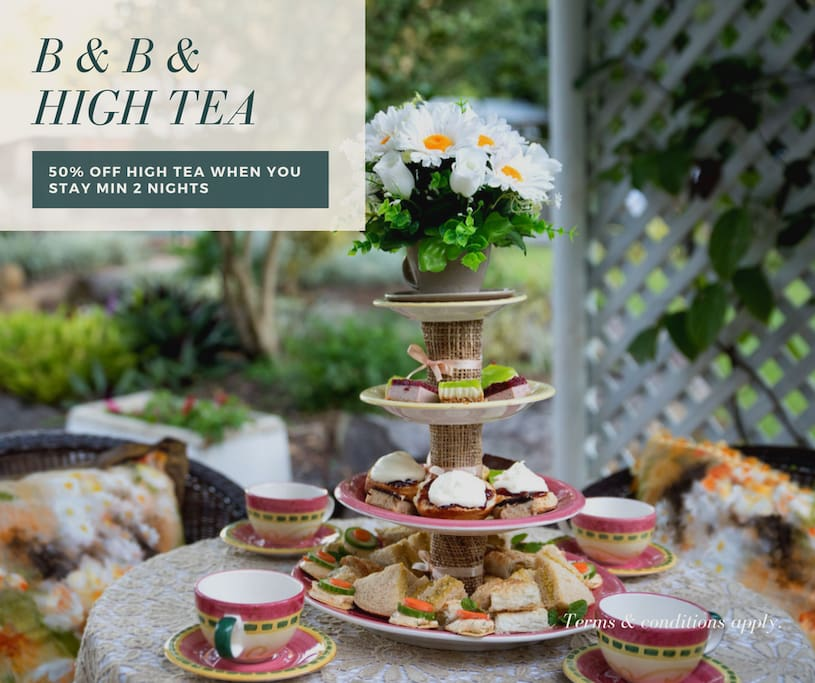 Stay a minimum of 2 nights and enjoy a High Tea for 2  @ 50% off ( valid till 30th November 2017)