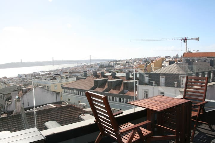 Loft Principe Real with a view