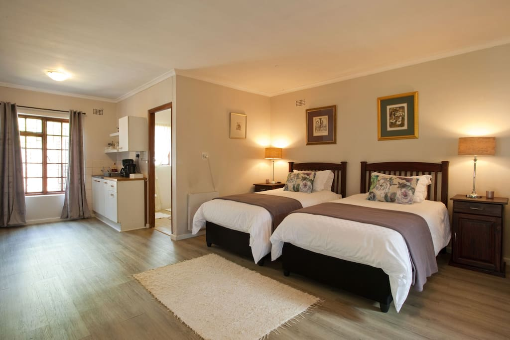 Comfortable 3/4 beds with good linen and electric blankets in winter.