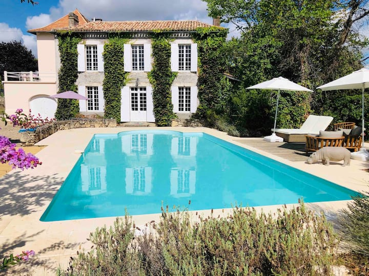 """Lazy Lizard"": Private pool in Bordeaux vineyards!"