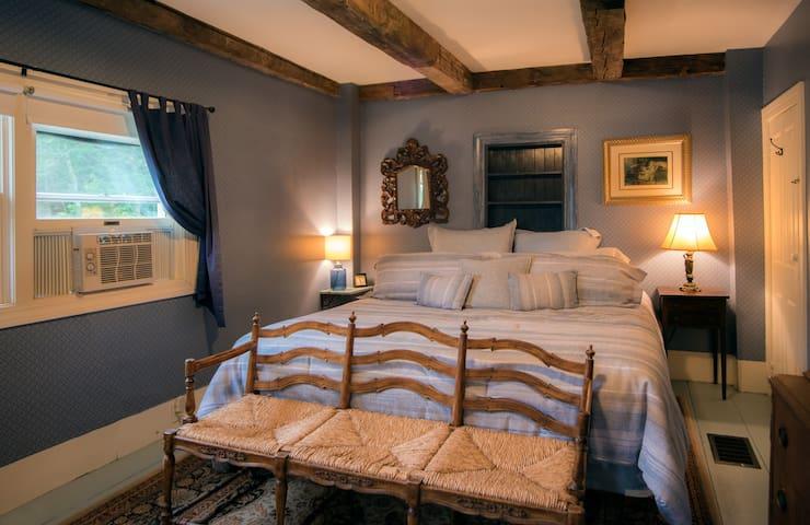 King bedroom with Roku TV