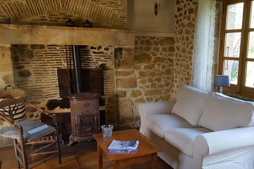 Knusse huiskamer van de Cottage