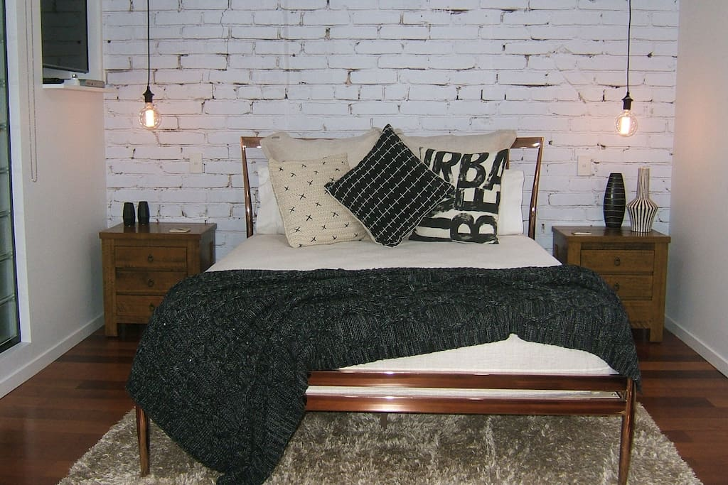 Comfortable Queen size bed in the main living area