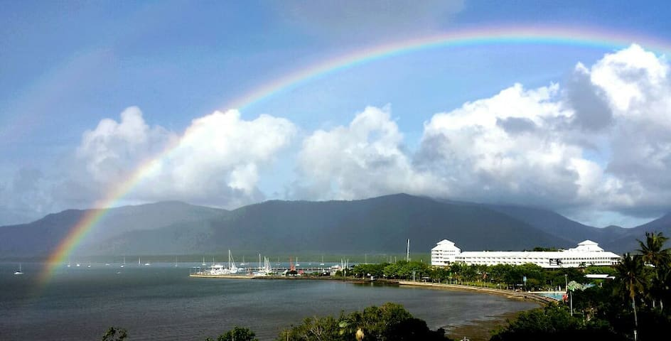 Beautiful colours of the the Rainbow after a rainy day in Cairns ... view from Balcony 38