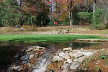 9 hole executive golf course.  There is an additional fee for golf.