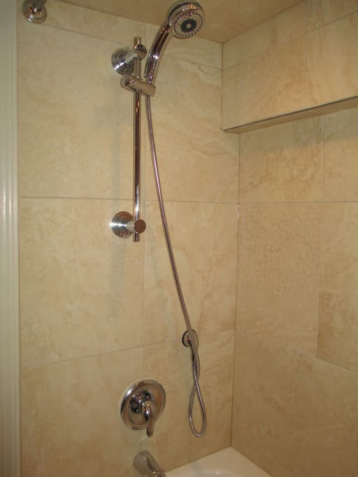 Soaker tub and shower