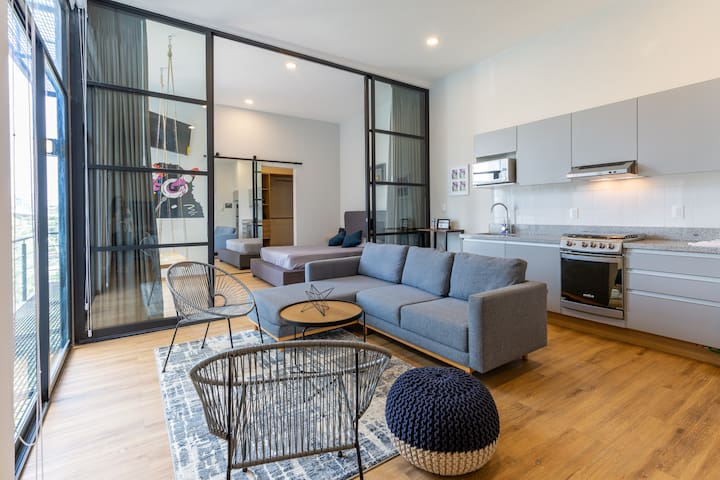 MODERN  LOFT, very well located with roof top!
