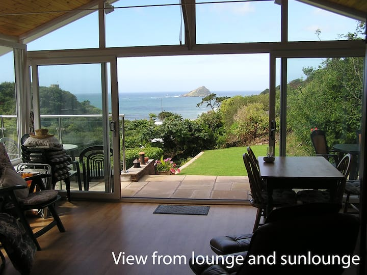 Shearwater B&B, open sea views with twin bedroom