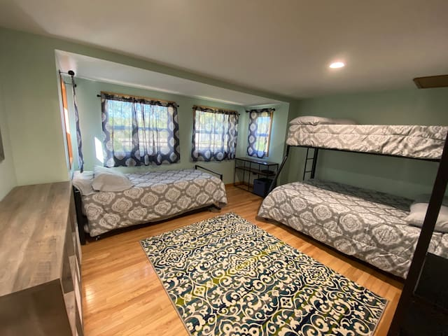 Kids bedroom with all new furnishings