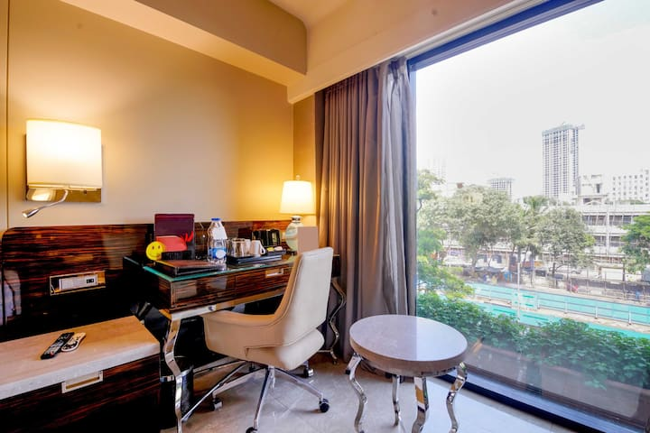 Superior room in a hotel at Malad West