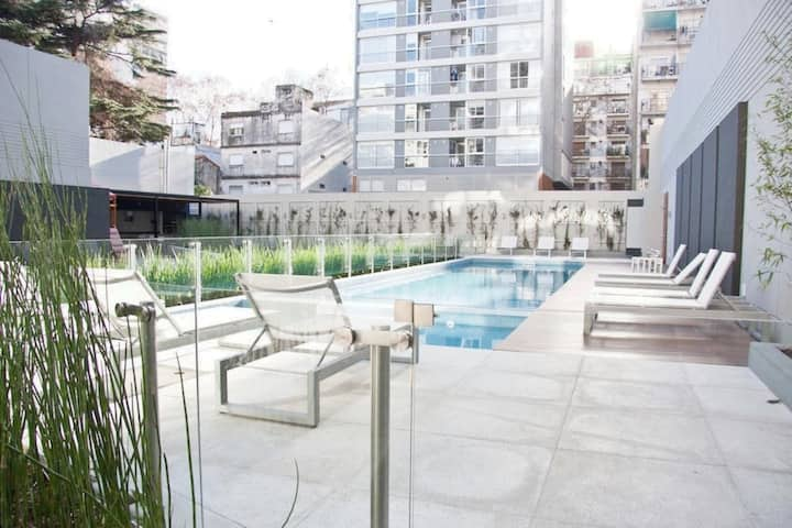 2BR Palermo Soho 24 hs Security, Pool & Gym