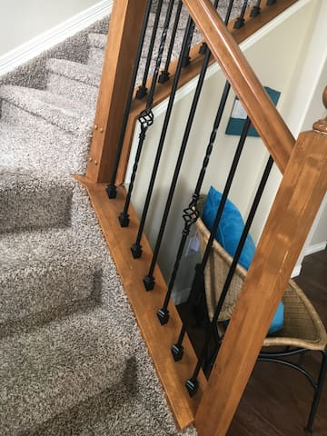 Picture from the front door to stairs going up