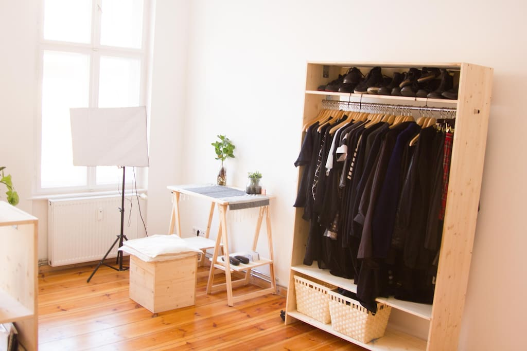 There will be space in the wardrobe for you to hang your clothes