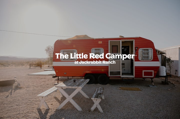 The Little Red Camper at Jackrabbit Ranch