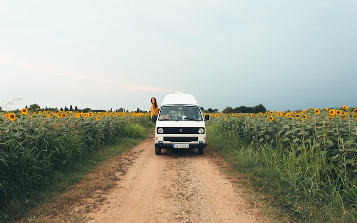 Ferier i Norge - Glamping i retro VW Van