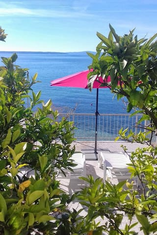 Apartman with the balcony and sea view