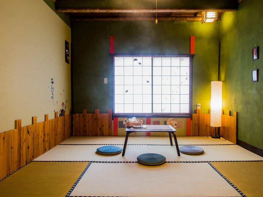 like a japanese style inn.