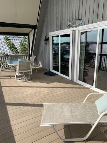 Upstairs balcony overlooking the Little Manatee River and Shell Point Marina