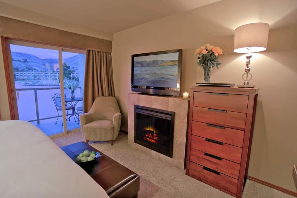 Fire and TV with room to spread out