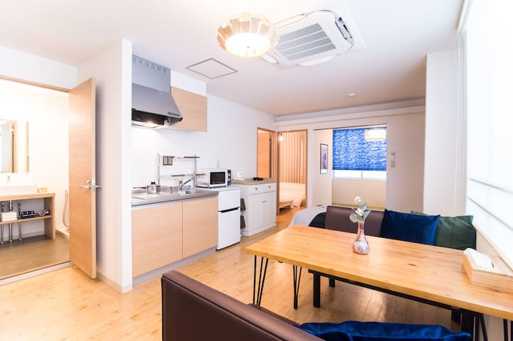 3bedrooms spacious bright+8mins walk TenjinStatio