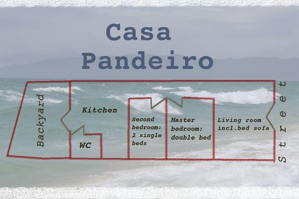 Casa Pandeiro is on the ground floor, no stairs to climb