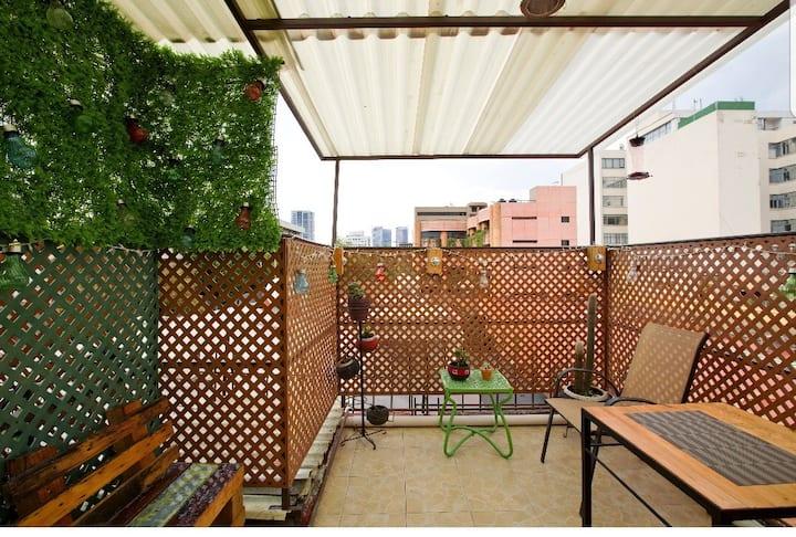 Bonito departamento Escandón Condesa con terraza