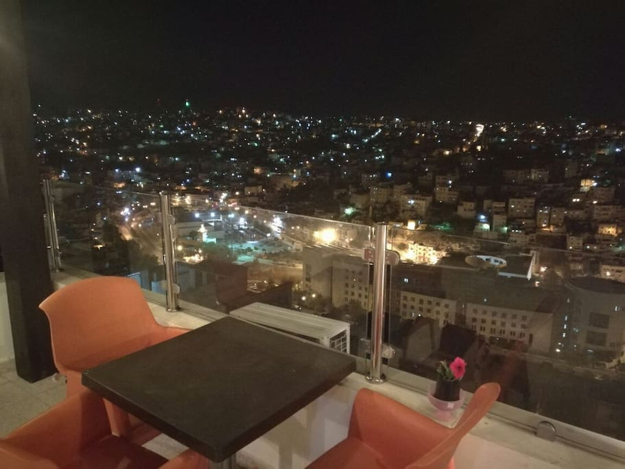 Amazing night view from rooftop