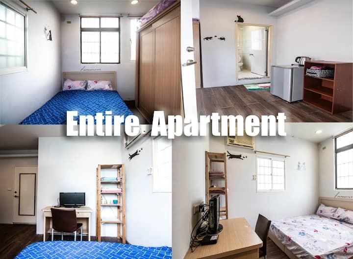 Entire Small Studio Apartment in Guting (3min MRT)