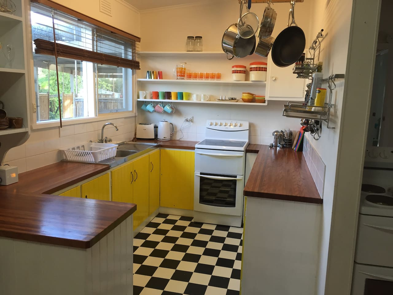 kitchen is bright and well-equipped
