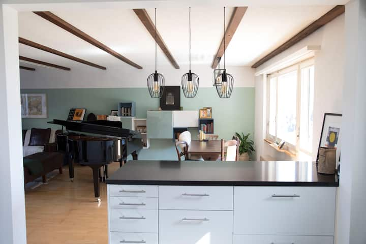 Beautiful home with mountain views near Bern