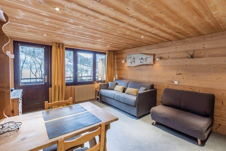 Studio Tardevant 21 à 400m des pistes de ski