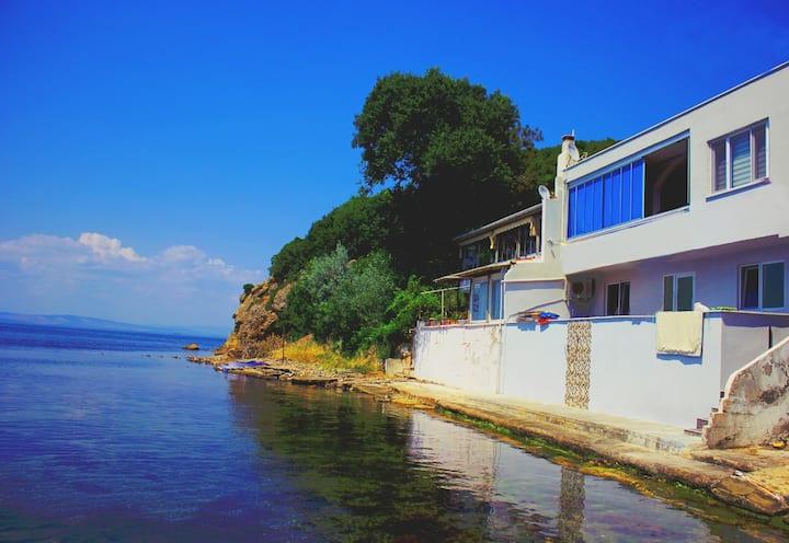 Corona ve şehire uzak denize sıfır doğa ile tatil.