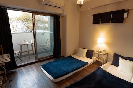Private cozy room with balcony - Osaka