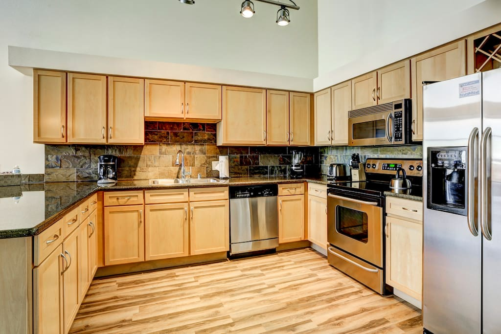 Kitchen at Premier Lofts by Stay Alfred