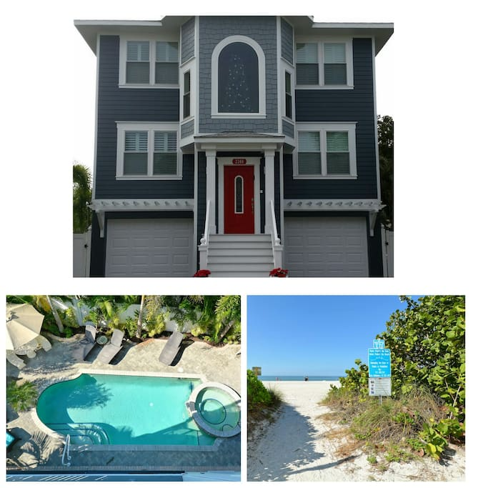 Front of Apartment and Pool/Beach Access