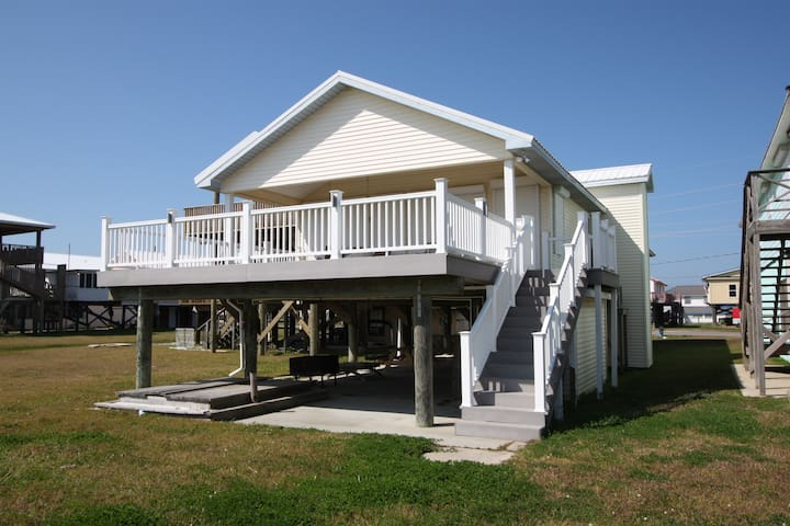 Campanile is a beachfront camp in the middle of Grand Isle