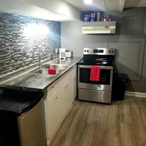 Updated Spacious Private Basement Suite
