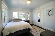 Beautiful bedroom with views of treelined community! Hardwood throughout!