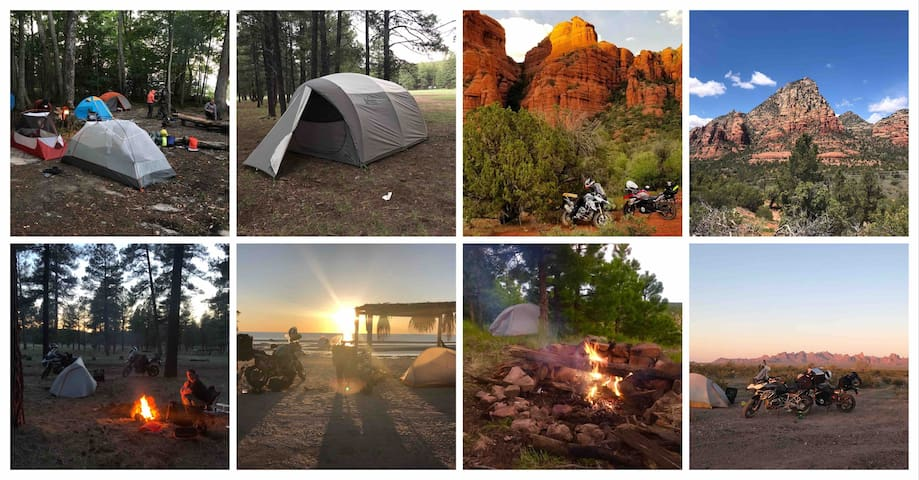 Our Camping Gear, Your Dream Location in Sedona!