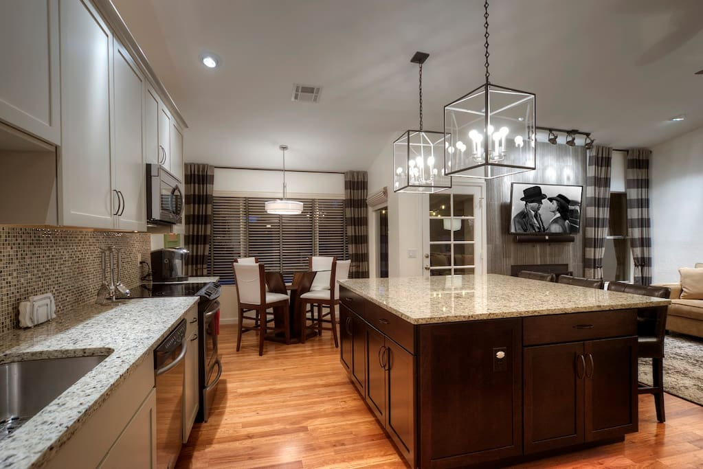 Newly remodeled kitchen and dining area