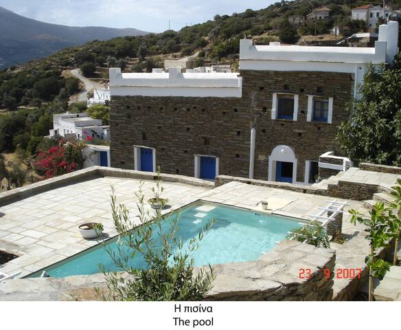 Splendid vacation at Anezas mansion - Andros