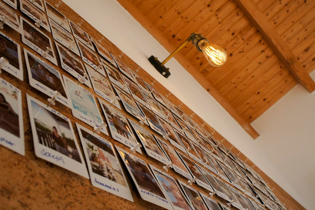 The Guest Wall of the AnchorHouse Portugal