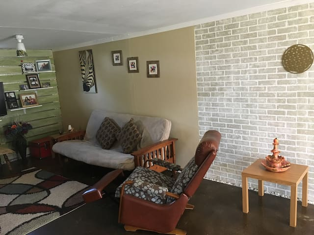 Finished basement two blocks from town square