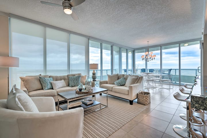 NEW! Chic Condo on the Coast: Steps to Beach!