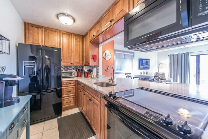 Beautifully updated condo right on the beach