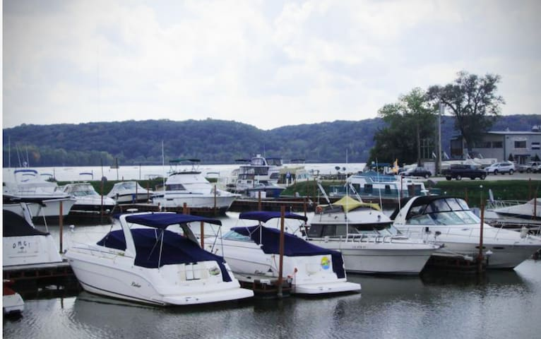 Redneck Boat in Fancy Marina
