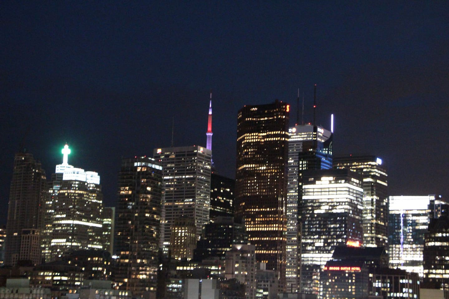 Night view of Downtown from Bedroom window