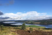 Dornoch firth 8 miles away