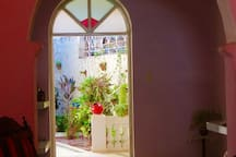 Dulce decorated the inner garden and passage way