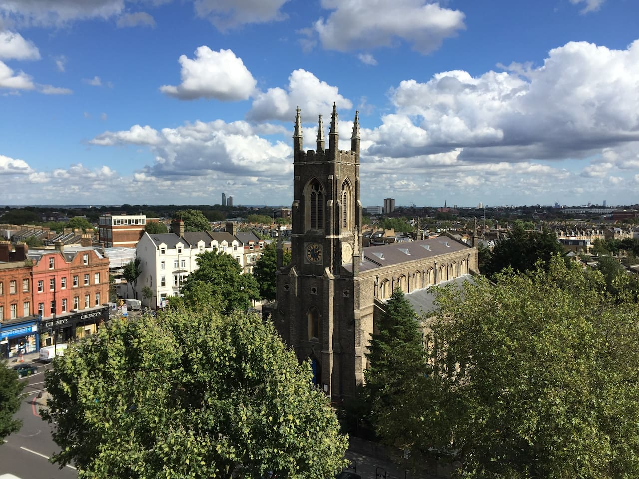 View from flat overlooking Holloway Road, 3 minutes walk from Archway tube station.